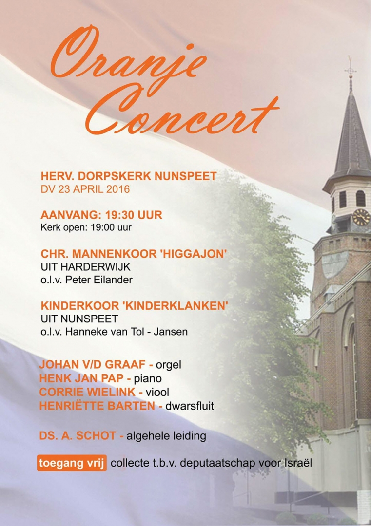 Oranjeconcert Hervormde Dorpskerk Nunspeet