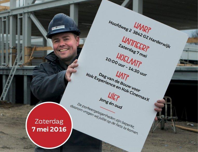 Kom naar de Dag van de bouw bij Kok Experience en Kok CinemaxX Harderwijk