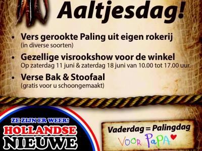 Traditioneel paling eten met Aaltjesdag in Harderwijk