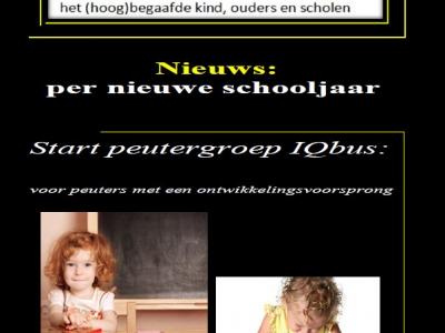 Per het nieuwe schooljaar zal peutergroep IQbus starten in Basisschool Het Baken Harderwijk