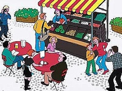 Buitenrommelmarkt wijkvereniging Stadsdennen en wijkvereniging Frankrijk