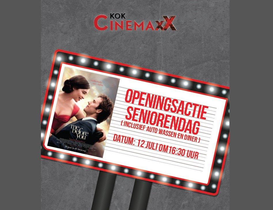 Kok CinemaxX: Openingsactie 12 juli seniorendag
