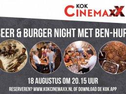 Beer en burger night met Ben Hur bij Kok CinemaxX in Harderwijk