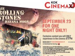 Het unieke Rolling Stones concert: Havana Cuba voor één avond op het witte doek bij Kok CinemaxX in Harderwijk