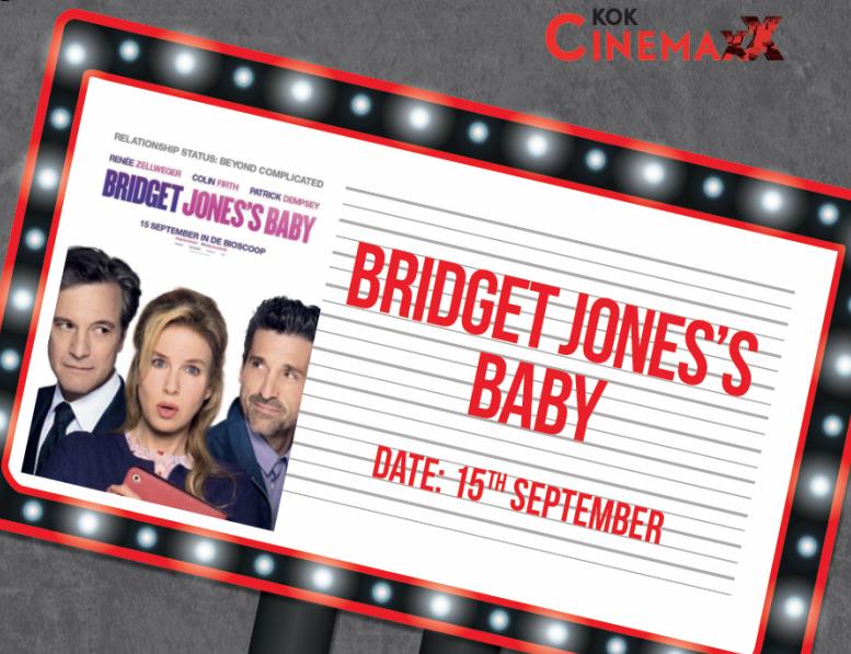 15 september gaat Bridget Jones's Baby in première bij Kok CinemaxX Harderwijk!