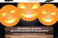 Halloween Lasergamen met aansluitend een Halloween feest