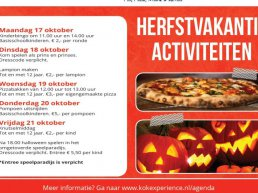Herfstvakantie activiteiten bij Kok Experience Harderwijk