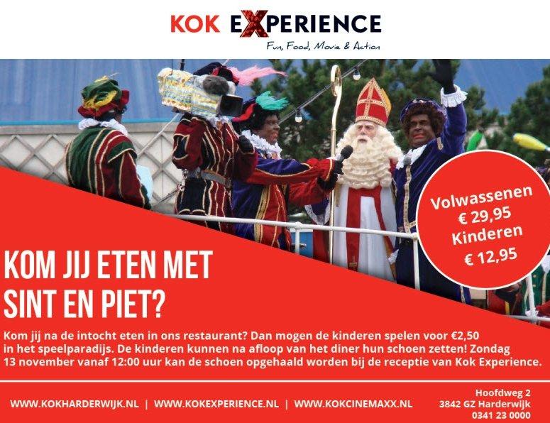 Eten met Sint en Piet bij Kok Experience Harderwijk