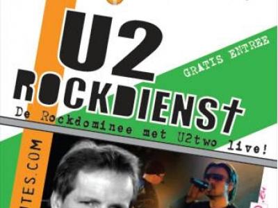 U2 rockband live in de Kerkelijk Centrum de Regenboog in Drielanden