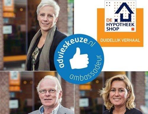 De Hypotheekshop Harderwijk is ambassadeur geworden van Advieskeuze.nl