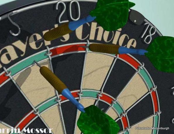 Uitslagen dartcompetitie bedrijven: Van den Berg Glas dicht gat