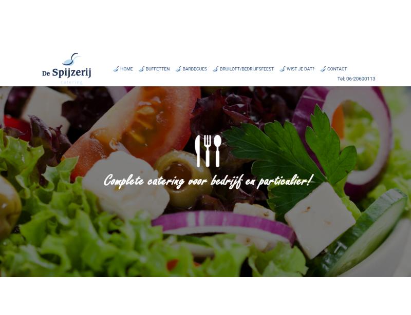 De Spijzerij online met een nieuwe website