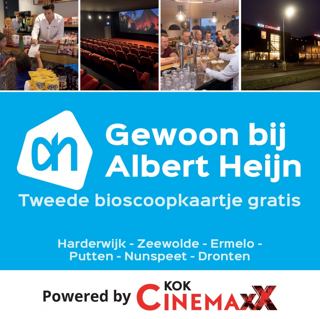 Sparen voor het tweede Kok CinemaxX bioscoopkaartje gratis bij Albert Heijn