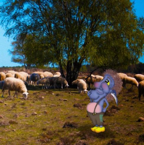 Kindertentoonstelling 'Blauwe Gerrit en het mysterie van de verdwenen schapen'