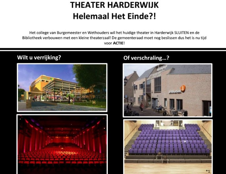 Flyer actie: Red het Theater Harderwijk!