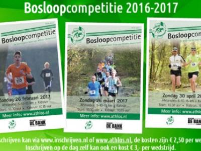 Zondag 30 april laatste wedstrijd Bosloopcompetitie 2016-2017