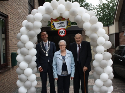 60-jarig bruidspaar meneer en mevrouw Vrijhof