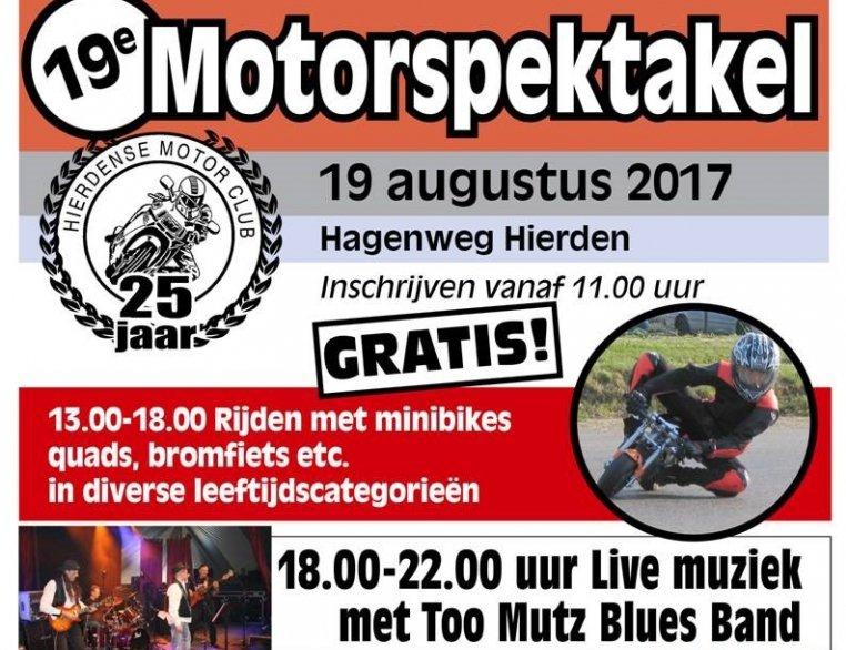 TT-winnaar Wil Hartog aanwezig bij Motorspektakel in Hierden zaterdag 19 augustus