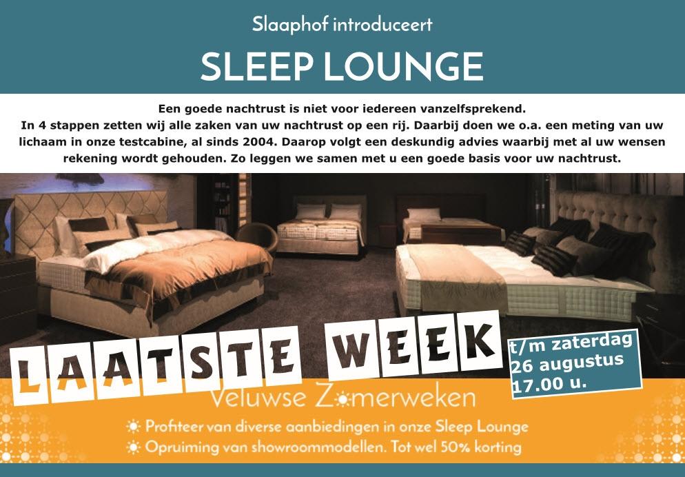 Laatste week van de Veluwse Zomerweken bij Sleeplounge by Slaaphof in Harderwijk