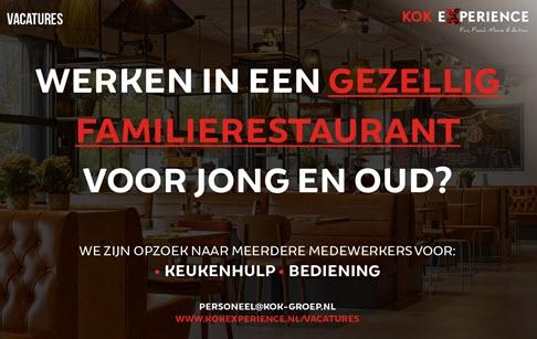 Werken in een gezellig familierestaurant voor jong en oud?