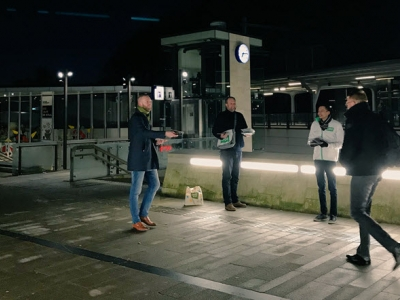 D66 vroeg op voor stationsactie