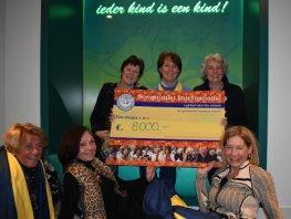 Mooie cheque voor het Kinderhospice Barneveld