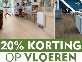 Colors @ Home Annemarie geeft 20% korting op alle vloeren.