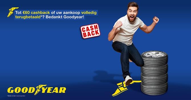 Kies voor Goodyear banden en krijg tot € 60,- terug
