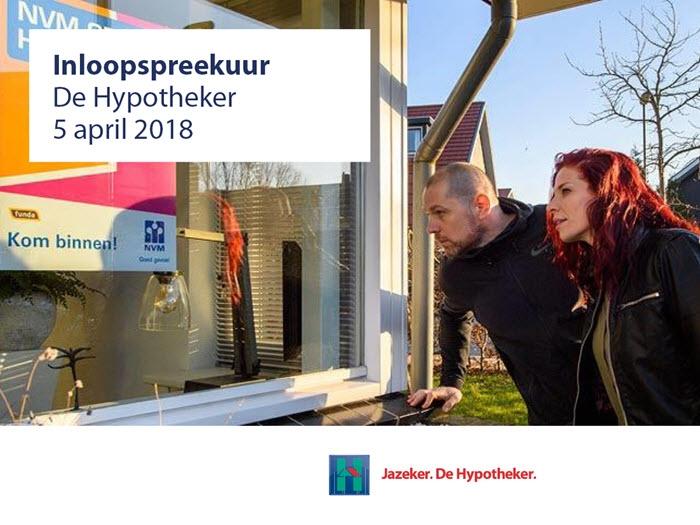 De Hypotheker organiseert op 5 april een inloopspreekuur