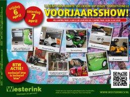 """Voorjaarsshow bij Westerink """"De speciaalzaak voor gazon-, tuin- en parkmachines"""""""
