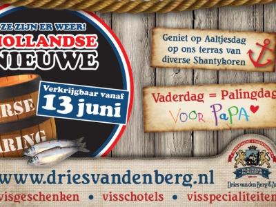 Vaderdag = Palingdag en vergeet die lekkere Hollandse Nieuwe niet te proeven!