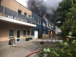 'Zeer grote' brand bij opslag van Stella Fietsen in Nunspeet