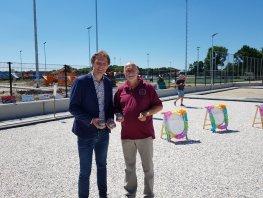 Officiële opening unieke jeu de boules banen in Harderwijk