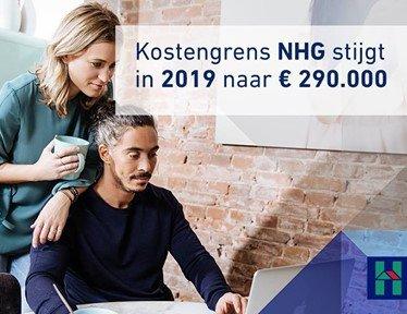 NHG kostengrens omhoog in 2019