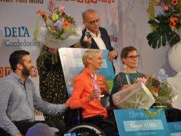 Ellen de Boer wint de 'Zilveren Venus van Milo'.
