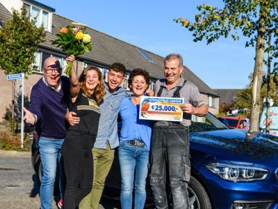 Inwoners Harderwijk winnen 150.000 euro bij Postcode Loterij