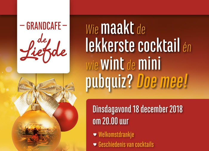 Grandcafé de Liefde organiseert cocktailworkshop