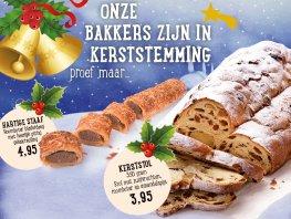 De bakkers van Bakkerij van Dongen zijn in de Kerststemming