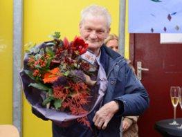 Ome Jan 60 jaar werkzaam bij de pepernotenfabriek Van Delft.