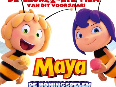 13 Februari en 15 februari peuterbios met de film Maya: de honingspelen