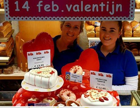 Valentijn lekkernijen bij Bakkerij van Dongen