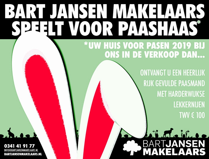 Bart Jansen Makelaars speelt voor Paashaas