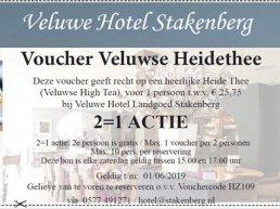 Vouchers bij Veluwe Hotel Stakenberg Elspeet 2=1 actie