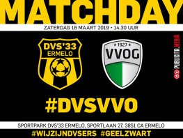 Derby tegen VVOG voor DVS'33 in het teken van jacht
