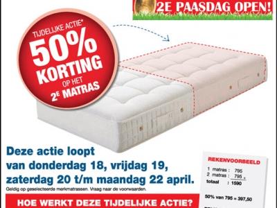 50% Korting op 2e matras