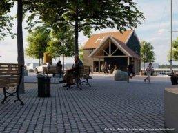 Buurtbewoners Havendam lijken tevreden met eerste schetsen havenkantoor