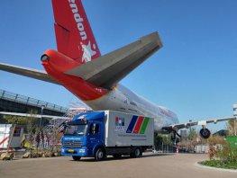 Februari 2019 is de gepensioneerde Boeing 747 met transport van Schiphol naar de tuin van het Corendon Village Hotel in Badhoevedorp gebracht