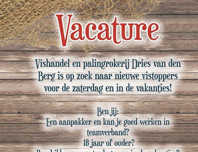 Vishandel en palingrokerij Dries van den Berg is op zoek vis medewerksters