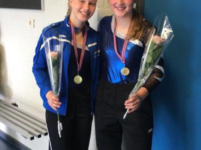 Goud en zilver voor de turnsters van G.V. Olympia!