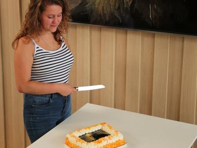 Digitale Rembrandt-kunst van Landstede MBO Harderwijk-student Tamara Wieberdink prijkt deze zomer in het Rijksmuseum